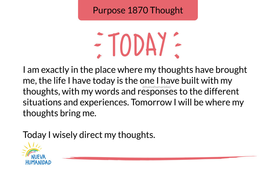 Purpose 1870 Thought