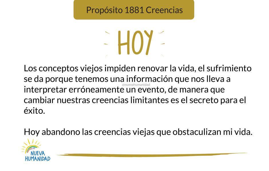 Propósito 1881 Creencias