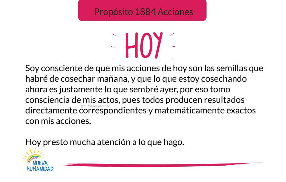Propósito 1884 Acciones
