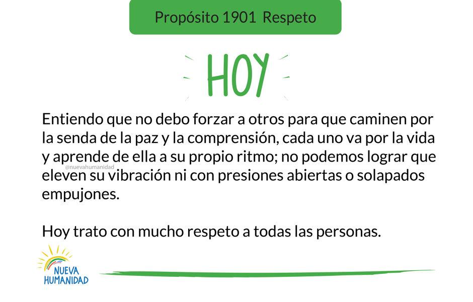 Propósito 1901 Respeto