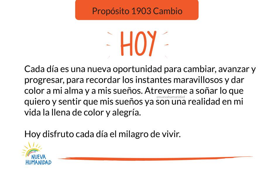 Propósito 1903 Cambio