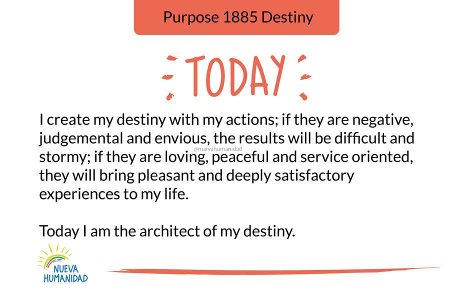 Purpose 1885 Destiny
