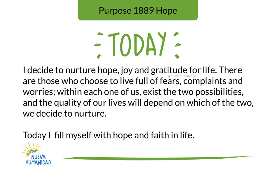Purpose 1889 Hope