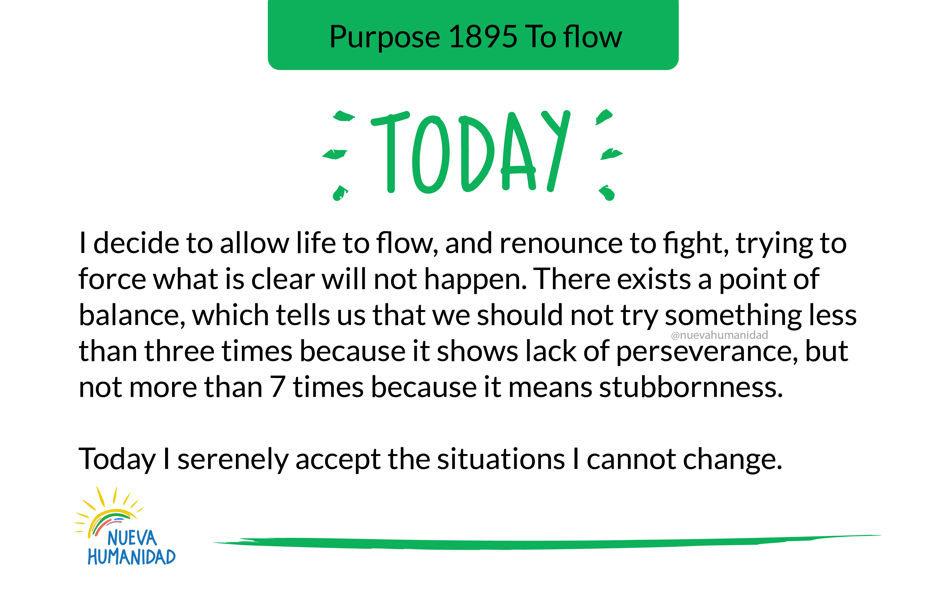 Purpose 1895 To flow