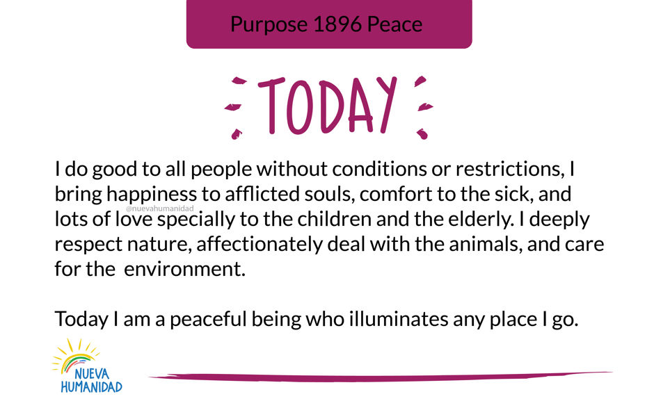 Purpose 1896 Peace