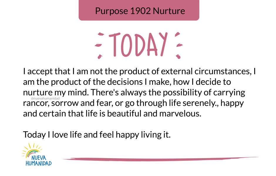 Purpose 1902 Nurture
