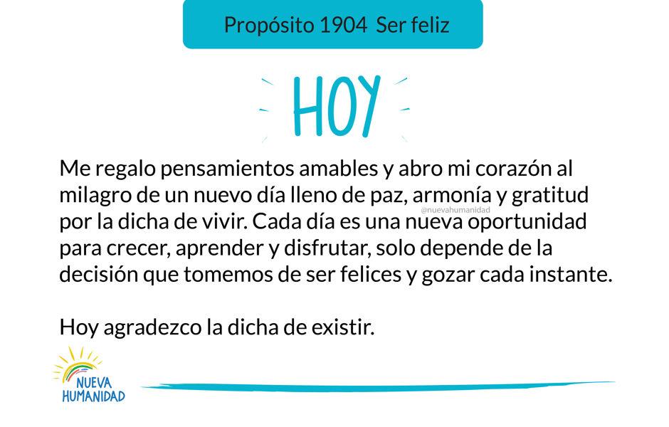 Propósito 1904 Ser feliz