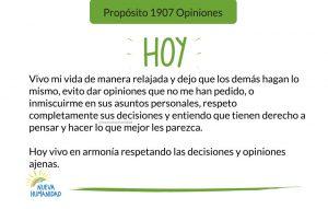Propósito 1907 Opiniones
