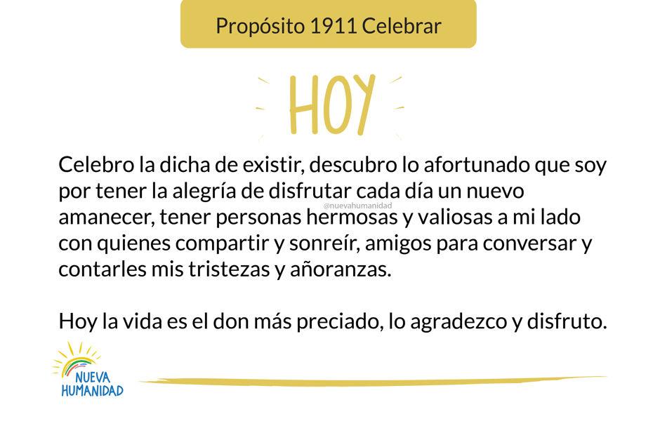 Propósito 1911 Celebrar