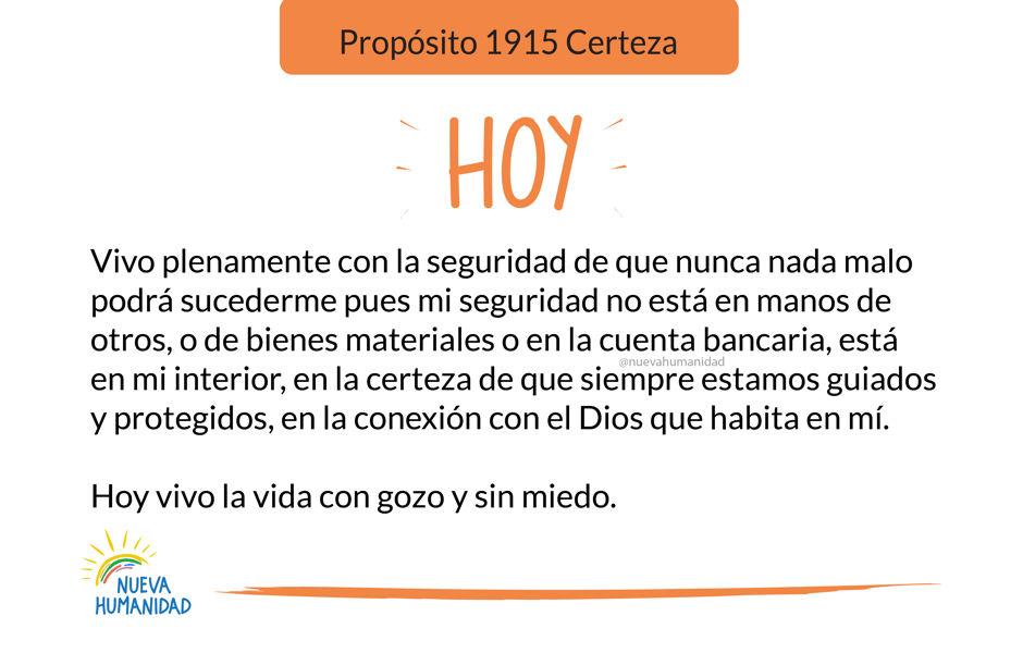 Propósito 1915 Certeza