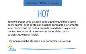 Propósito 1916 La Palabra