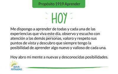 Propósito 1919 Aprender