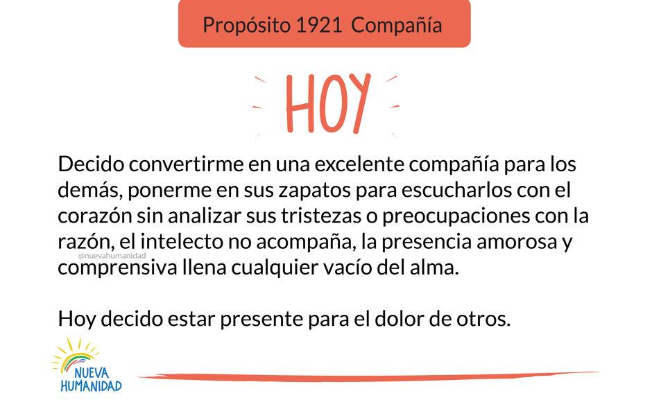 Propósito 1921  Compañía