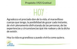 Propósito 1925 Gratitud