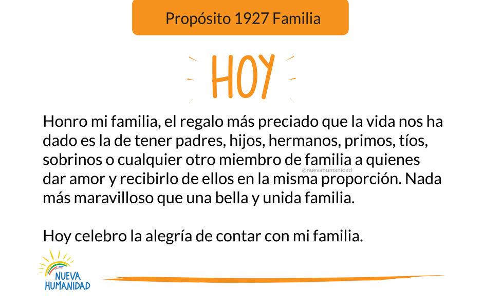 Propósito 1927 Familia
