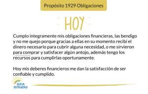 Propósito 1929 Obligaciones