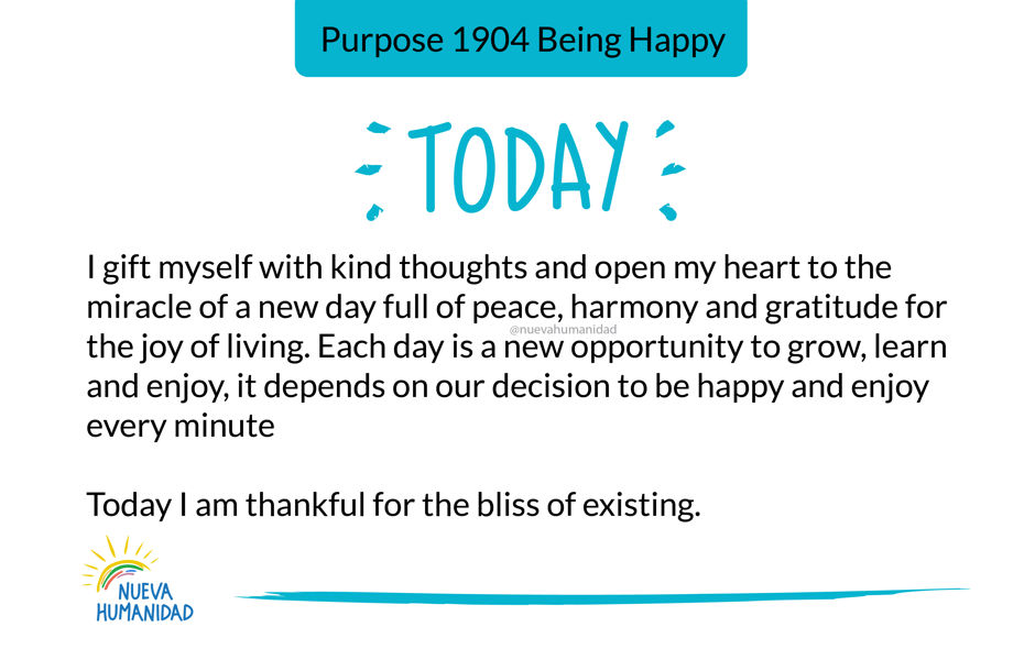 Purpose 1904 Being Happy