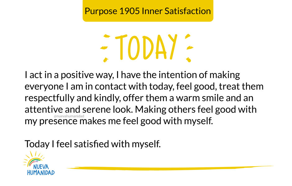 Purpose 1905 Inner Satisfaction