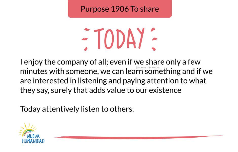 Purpose 1906 To share