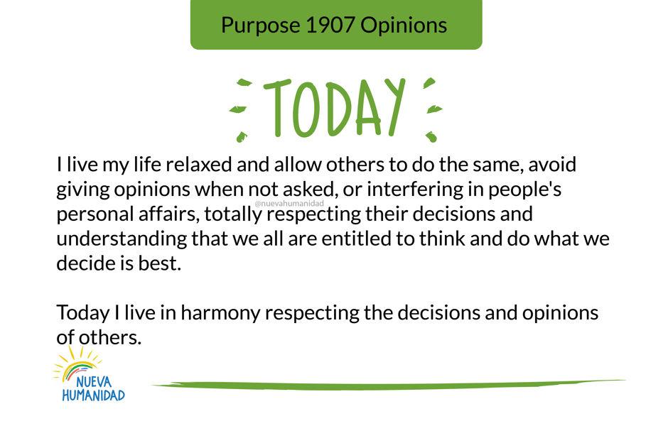Purpose 1907 Opinions