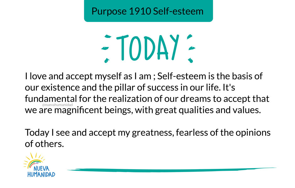 Purpose 1910 Self-esteem