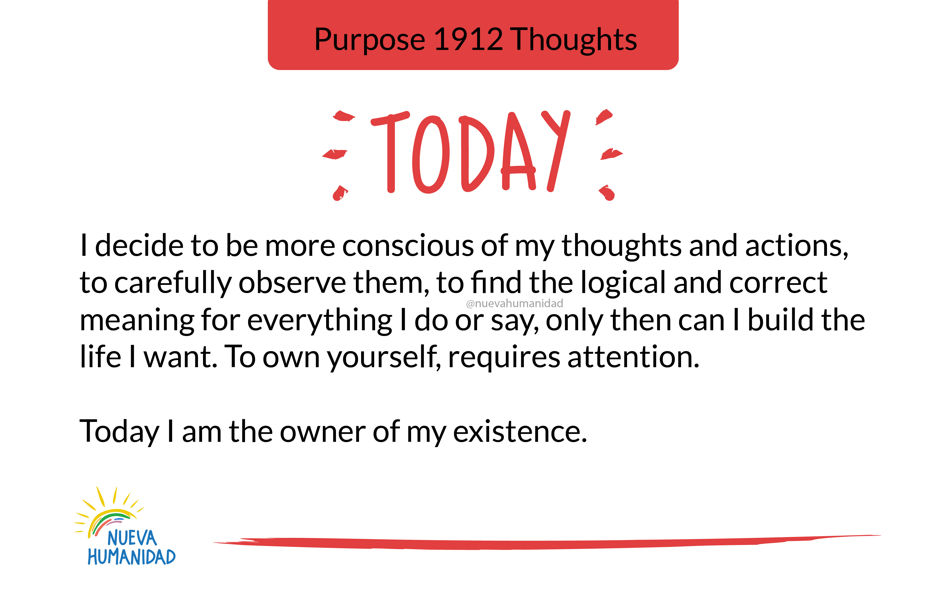 Purpose 1912 Thoughts