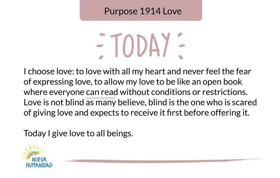 Purpose 1914 Love