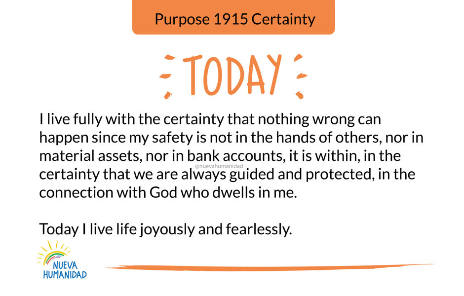Purpose 1915 Certainty