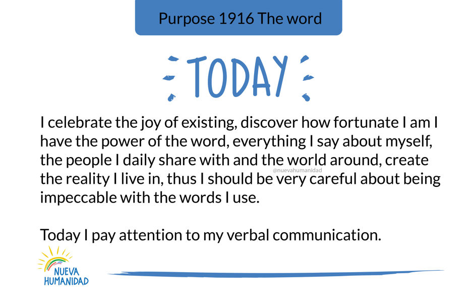 Purpose 1916 The word