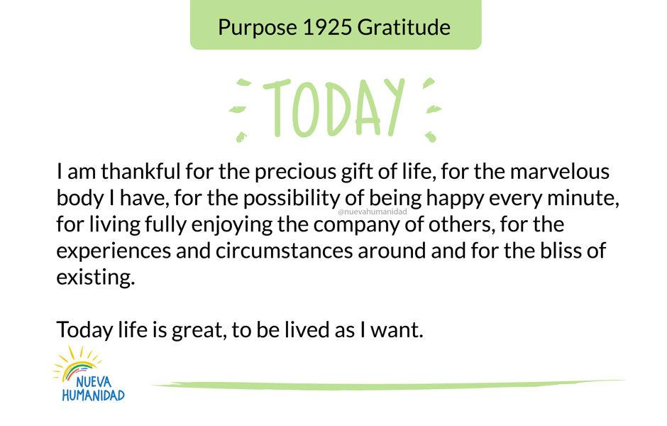 Purpose 1925 Gratitude