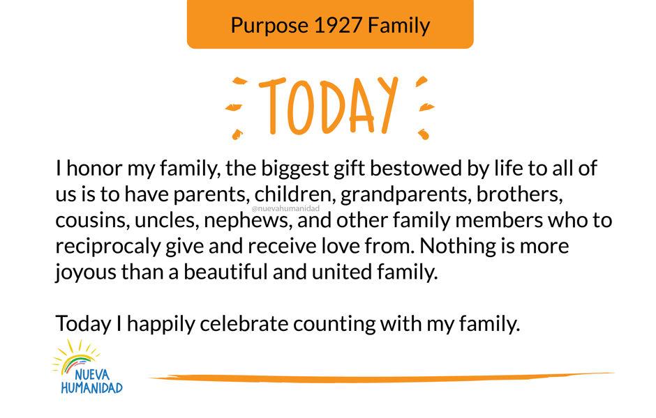 Purpose 1927 Family