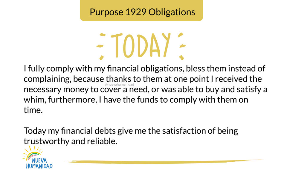 Purpose 1929 Obligations