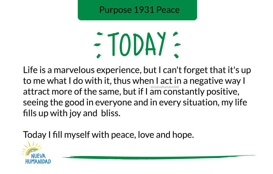 Purpose 1931 Peace