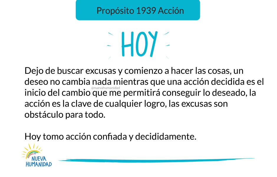 Propósito 1939 Acción