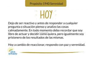 Propósito 1940 Serenidad