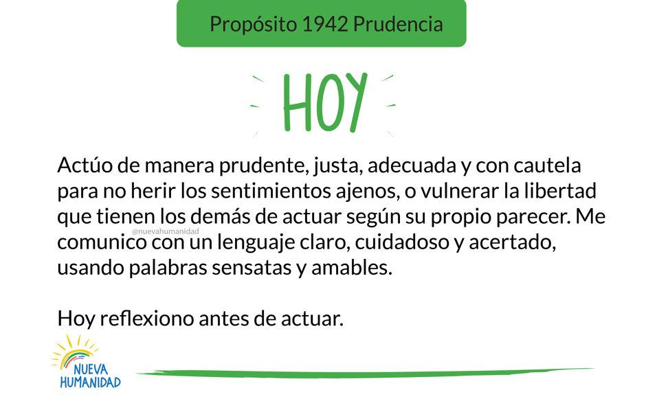 Propósito 1942 Prudencia