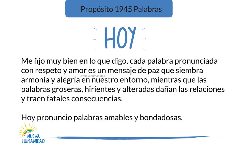 Propósito 1945 Palabras