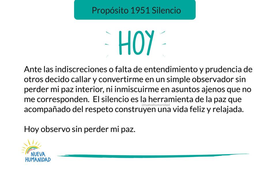 Propósito 1951 Silencio