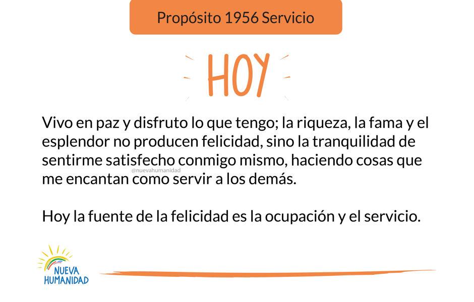 Propósito 1956 Servicio