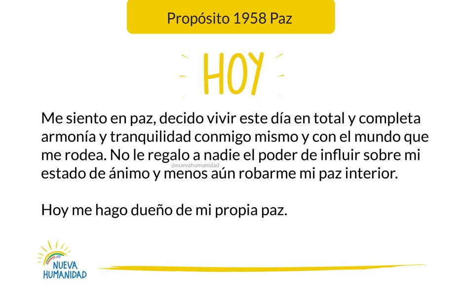 Propósito 1958 Paz