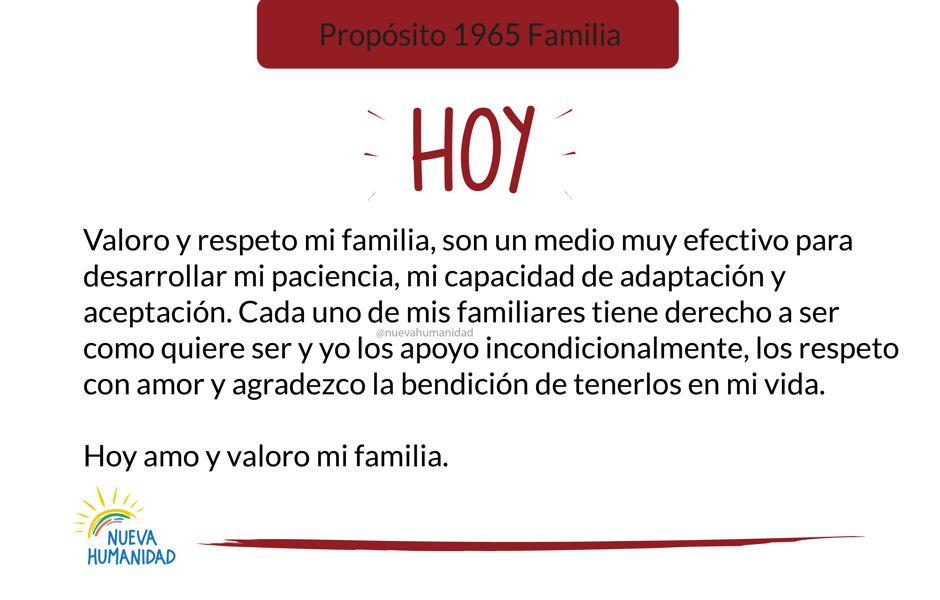 Propósito 1965 Familia