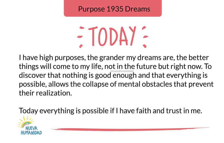 Purpose 1935 Dreams