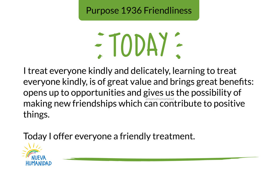 Purpose 1936 Friendliness