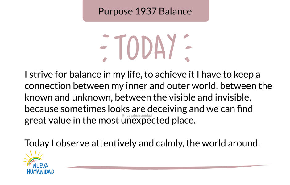 Purpose 1937 Balance