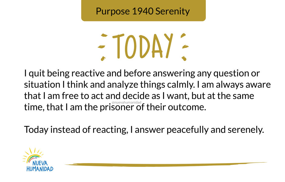 Purpose 1940 Serenity
