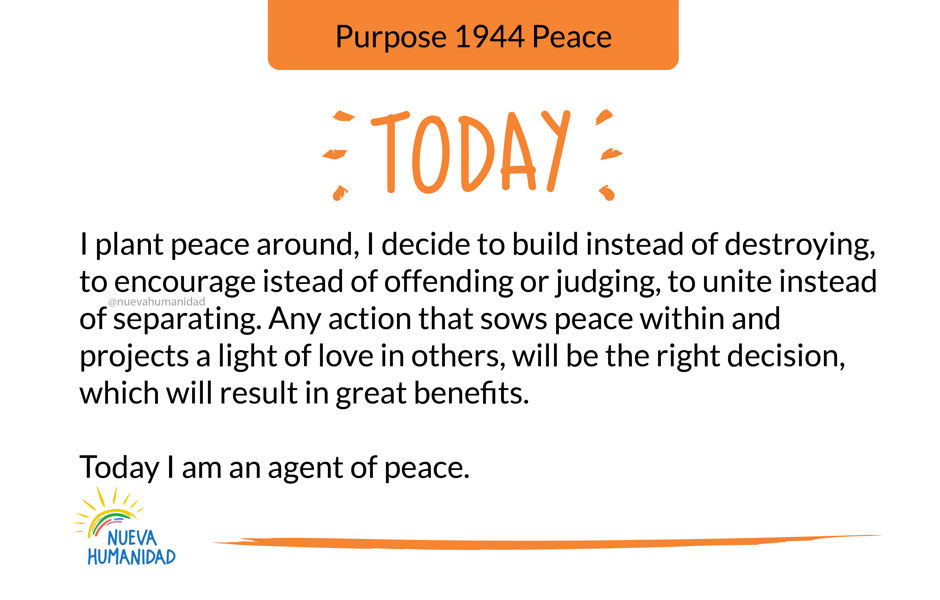Purpose 1944 Peace