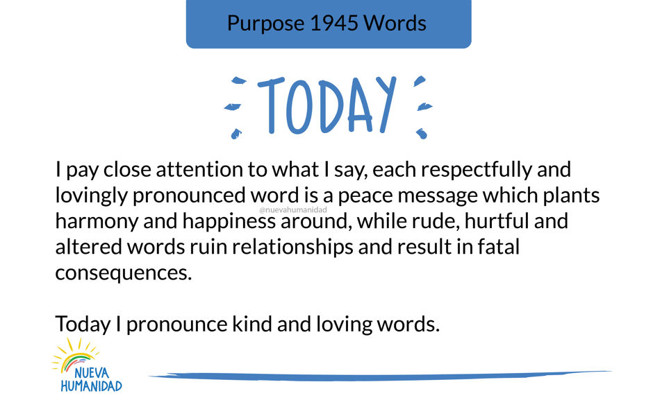 Purpose 1945 Words