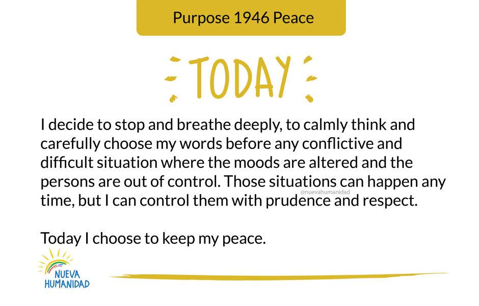 Purpose 1946 Peace
