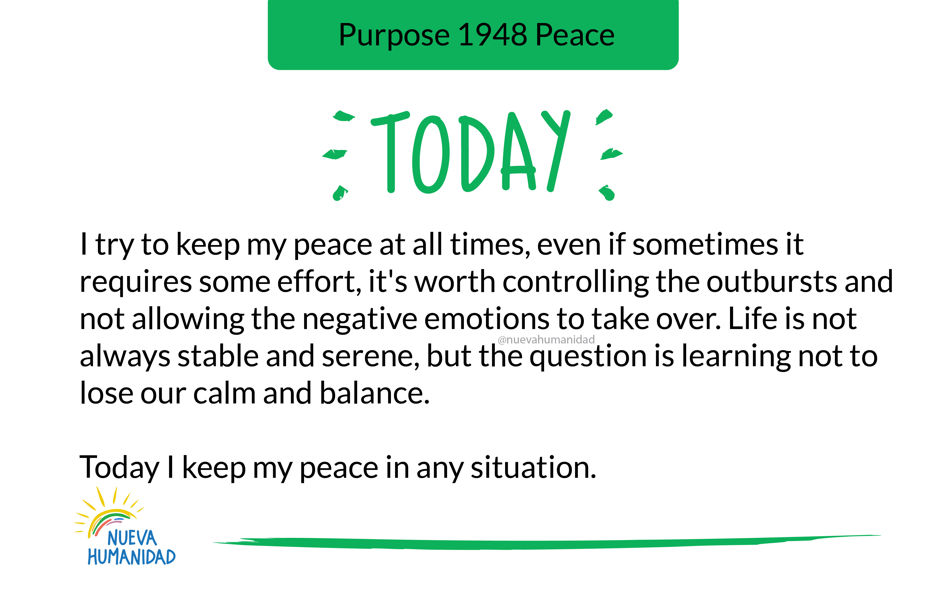 Purpose 1948 Peace