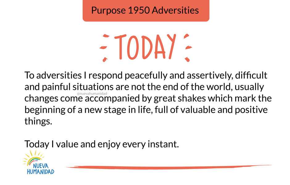 Purpose 1950 Adversities